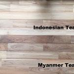 ビルマチークとインドネシアチーク