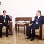 الرئيس الاسد يستقبل السيد سليمان فرنجية - 03.07.2003