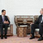الرئيس بشار الأسد يبحث مع غريغول فاشادزه وزير خارجية جورجيا العلاقات الثنائية بين سورية وجورجيا وآفاق تطويرها ولاسيما فى المجالين الاقتصادي والسياحي - 02.05.2010