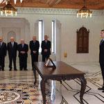 أمام السيد الرئيس بشار الأسد الدكتور فيصل عباس يؤدي اليمين الدستورية وزيرا للنقل - 16.04.2011