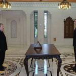 أمام السيد الرئيس بشار الأسد المهندس حسين عرنوس يؤدي اليمين الدستورية وزيرا للأشغال العامة - 12.02.2013