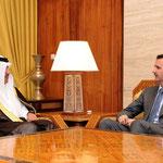 الرئيس الأسد يتسلم رسالة من أمير دولة قطر نقلها رئيس الوزراء وزير الخارجية القطري - 02.04.2011