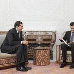 الرئيس الاسد يتسلم رسالة من الملك عبد الله الثاني عاهل المملكة الاردنية الهاشمية - 10.02.2010
