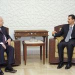 السيد الرئيس بشار الأسد يستقبل وفد الاتحاد العام للآثاريين العرب - 28.07.2004
