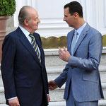السيد الرئيس بشار الأسد يلتقي والسيدة عقيلته الملك الأسباني خوان كارلوس والسيدة عقيلته - 04.07.2010