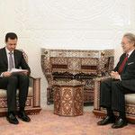 السيد الرئيس بشار الأسد يستقبل عضو مجلس الشيوخ الفرنسى فيليب مارينى - 02.02.2010