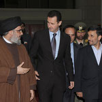 الرئيس الأسد يقيم مأدبة عشاء على شرف الرئيس أحمدي نجاد - 25.02.2010