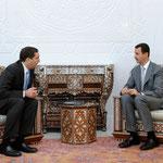 الرئيس الأسد يتلقى رسالة شفوية من ملك الأردن نقلها رئيس الوزراء الأردني - 30.05.2010