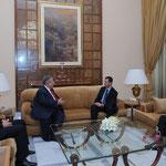 السيد الرئيس بشار الأسد يلتقي الرئيس العراقي جلال طالباني في مقر إقامته بدمشق - 15.02.2011