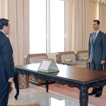أمام السيد الرئيس بشار الأسد .. الدكتور أحمد خالد عبد العزيز يؤدي اليمين القانونية محافظاً لمحافظة حماة - 23.02.2011