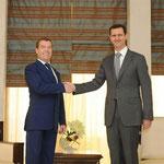 الرئيس الأسد يعقد جلسة محادثات مع الرئيس ميدفيديف ويصدران بياناً مشتركاً للمباحثات - 11.05.2010