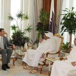الرئيس الأسد  يبدأ زيارة عمل قصيرة الى قطر ويعقد جلسة مباحثات مع أمير دولة قطر بالدوحة - 19.05.2010