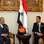 الرئيس الأسد يستقبل القادة ضيوف مؤتمر قمة دمشق العربية العشرين - 30.03.2008