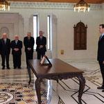 أمام السيد الرئيس بشار الأسد اللواء محمد إبراهيم الشعار يؤدي اليمين الدستورية وزيرا للداخلية - 16.04.2011