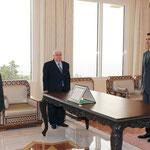 أمام السيد الرئيس بشار الأسد السيد رياض عباس يؤدي اليمين القانونية سفيرا لسورية لدى الهند - 10.02.2011