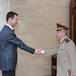 الرئيس الأسد يستقبل العماد علي عبد الله أيوب رئيس هيئة الأركان ويزوده بتوجيهاته - 02.08.2012