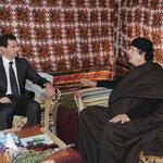 الرئيس الأسد والعقيد معمر القذافي يعقدان جلسة محادثات - 24.01.2010