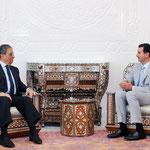 الرئيس الأسد يستقبل عمرو موسى الأمين العام لجامعة الدول العربية - 15.07.2010