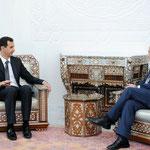 دعا السيد الرئيس بشار الأسد خلال استقباله صباح أمس السناتور الأمريكي بوب كروكر الولايات المتحدة لدفع إسرائيل لوقف اعتداءاتها الوحشية ورفع الحصار عن قطاع غزة و السير قدما فى عملية السلام كحل وحيد لعودة الأمن والاستقرار للمنطقة - 31.0.2010