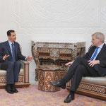 الرئيس الأسد يستقبل وزير خارجية السويد - 28.02.2010