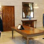 أمام السيد الرئيس بشار الأسد خضر عبد الوهاب العلى الحسين يؤدي اليمين القانونية محافظا لمحافظة الحسكة - 15.07.2012