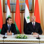جلسة مباحثات موسعة بين الرئيسين الأسد و لوكاشينكو بحضور أعضاء الوفدين الرسميين - 26.07.2010