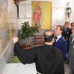 الرئيسان الأسد وميدفيديف يزوران كنيسة حنانيا في دمشق - 11.05.2010