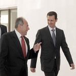 الرئيس الأسد يستقبل العماد إميل لحود الرئيس اللبناني السابق - 02.02.2010