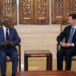 السيد الرئيس بشار الأسد يستقبل مبعوث الامم المتحدة الى سورية كوفي عنان - 09.07.2012