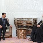الرئيس الأسد يستقبل رئيس اساقفة اثينا - 27.01.2011