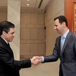 الرئيس الاسد يستقبل رئيس الوزراء الفرنسى - 19.02.2010