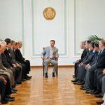 الرئيس الأسد يلتقي عددا من أبناء الجالية السورية في جمهورية بيلاروس في مدينة مينسك - 27.07.2010