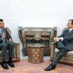 الرئيس الأسد يلتقي وزير خارجية ايطاليا - 14.02.2011