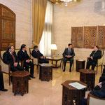 الرئيس الأسد يلتقي أعضاء المكتب التنفيذي لاتحاد الكتاب العرب - 10.01.2011