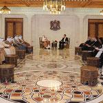 الرئيس الأسد و سمو أمير دولة الكويت يعقدان جلسة مباحثات موسعة بحضور أعضاء الوفدين الرسميين - 16.05.2010