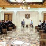 الرئيس الأسد يلتقي عددا من المفكرين والمثقفين المشاركين في مؤتمر العروبة والمستقبل - 17.05.2010