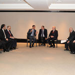الرئيس الأسد يلتقي عددا من أعضاء مجلس إدارة غرفة التجارة العربية البرازيلية في ساو باولو - 01.07.2010