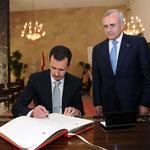 السيد الرئيس يسجل كلمة في سجل الشرف في قصر بعبدا - 30.07.2010