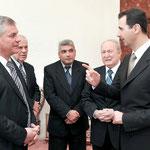 الرئيس الأسد يستقبل رئيس مجلس النواب في الجمعية الوطنية في جمهورية بيلاروسيا - 28.01.2010