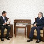 الرئيس الأسد يستقبل السيد الأخضر الابراهيمي - 11.07.2004