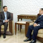 الرئيس بشار الاسد يستقبل وزير العدل اللبناني السيد عدنان عضوم - 05.12.2004