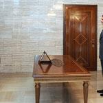 أمام السيد الرئيس بشار الأسد غسان مصطفى عبد العال يؤدي اليمين القانونية محافظا لمحافظة حمص