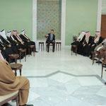 الرئيس الأسد يلتقي وفدا من شيوخ عشائر دير الزور والرقة و الحسكة - 22.12.2011