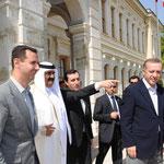 لقاء بين الرئيس الأسد وأمير قطر وأردوغان في اسطنبول - 09.05.2010