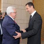 السيد الرئيس بشار الأسد يستقبل الرئيس الفلسطينيي محمود عباس - 14.05.2009