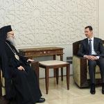 السيد الرئيس بشار الأسد يستقبل البطريرك يوحنا العاشر اليازجي - 11.02.2013