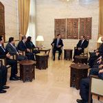 الرئيس الأسد يلتقي أعضاء المكتب التنفيذي لاتحاد شبيبة الثورة - 10.01.2011