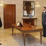 أمام السيد الرئيس بشار الأسد الدكتور غسان أحمد لطفي القناطرى يؤدي اليمين القانونية محافظا لمحافظة دير الزور - 15.07.2012