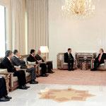 الرئيس الاسد يلتقي رئيس لجنة العلاقات الخارجية فى مجلس الامة التركي - 12.01.2010