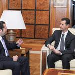 الرئيس الأسد يستقبل رئيس الوزراء اللبناني - 31.05.2010